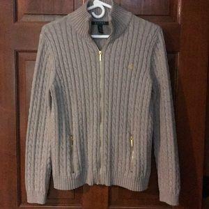 Ralph Lauren cotton sweater dual zip